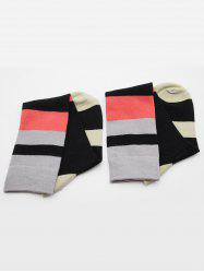 Vintage Color Block Medium Socks -
