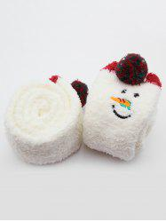 Unicorn Snowman Fuzzy Floor Socks -