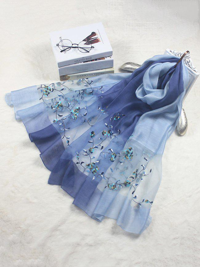Latest Elegant Floral Embroidery Long Scarf