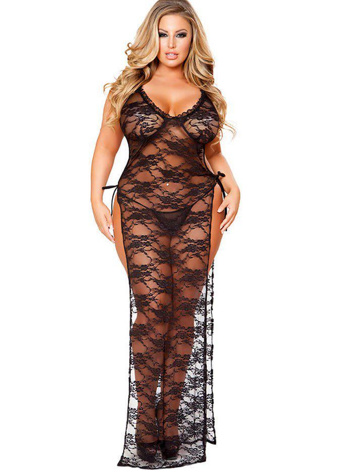 Store See Through Plus Size Lingerie Lace Dress