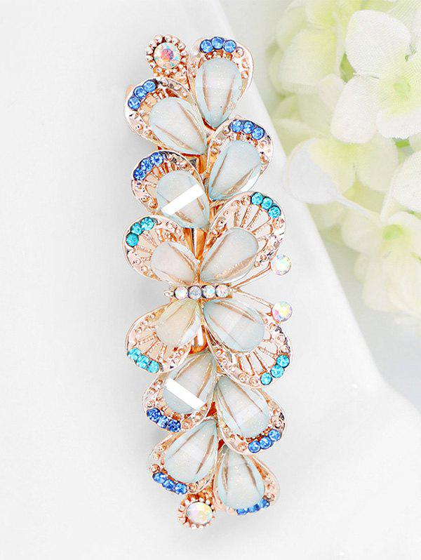 Cheap Colored Rhinestone Inlaid Butterfly Barrette