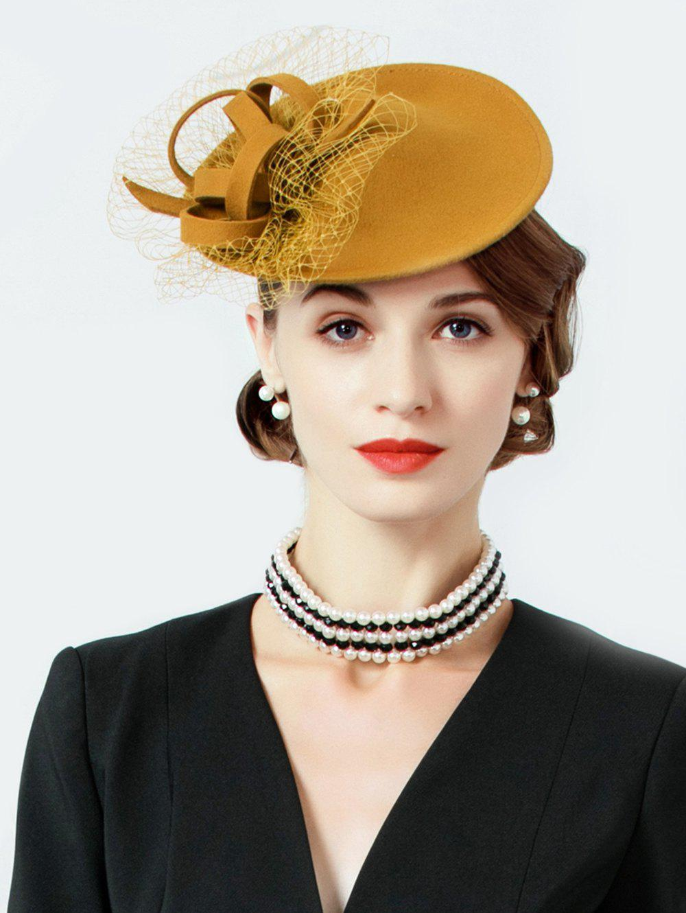 Outfits British Style Mesh Solid Color Beret