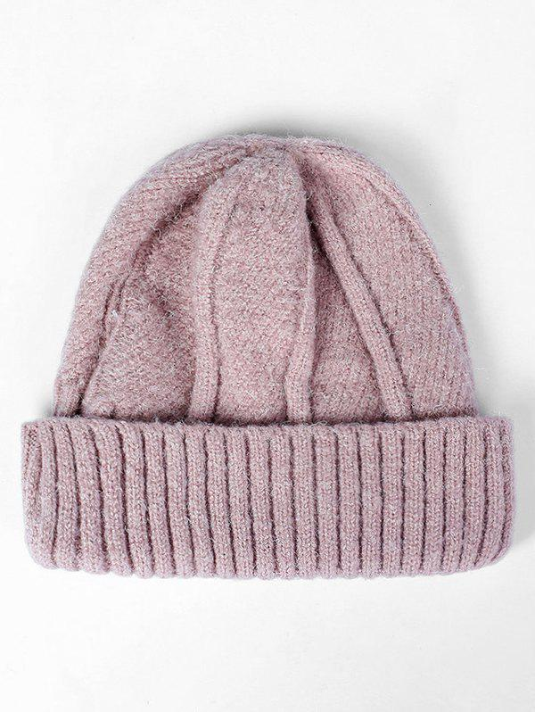 Cheap Flanging Knit Slouchy Beanie
