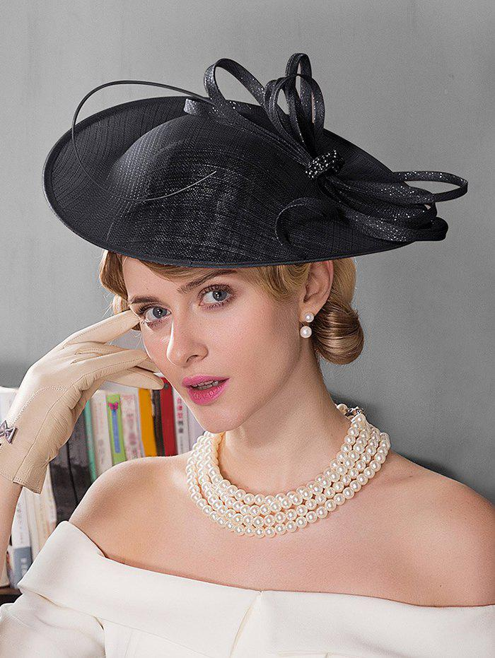 Store Rhinestone Solid Color Tea Party Hat