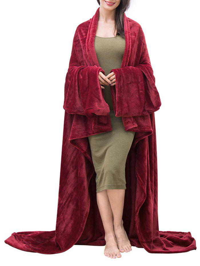Sale Fluffy Wearable Blanket with Sleeves