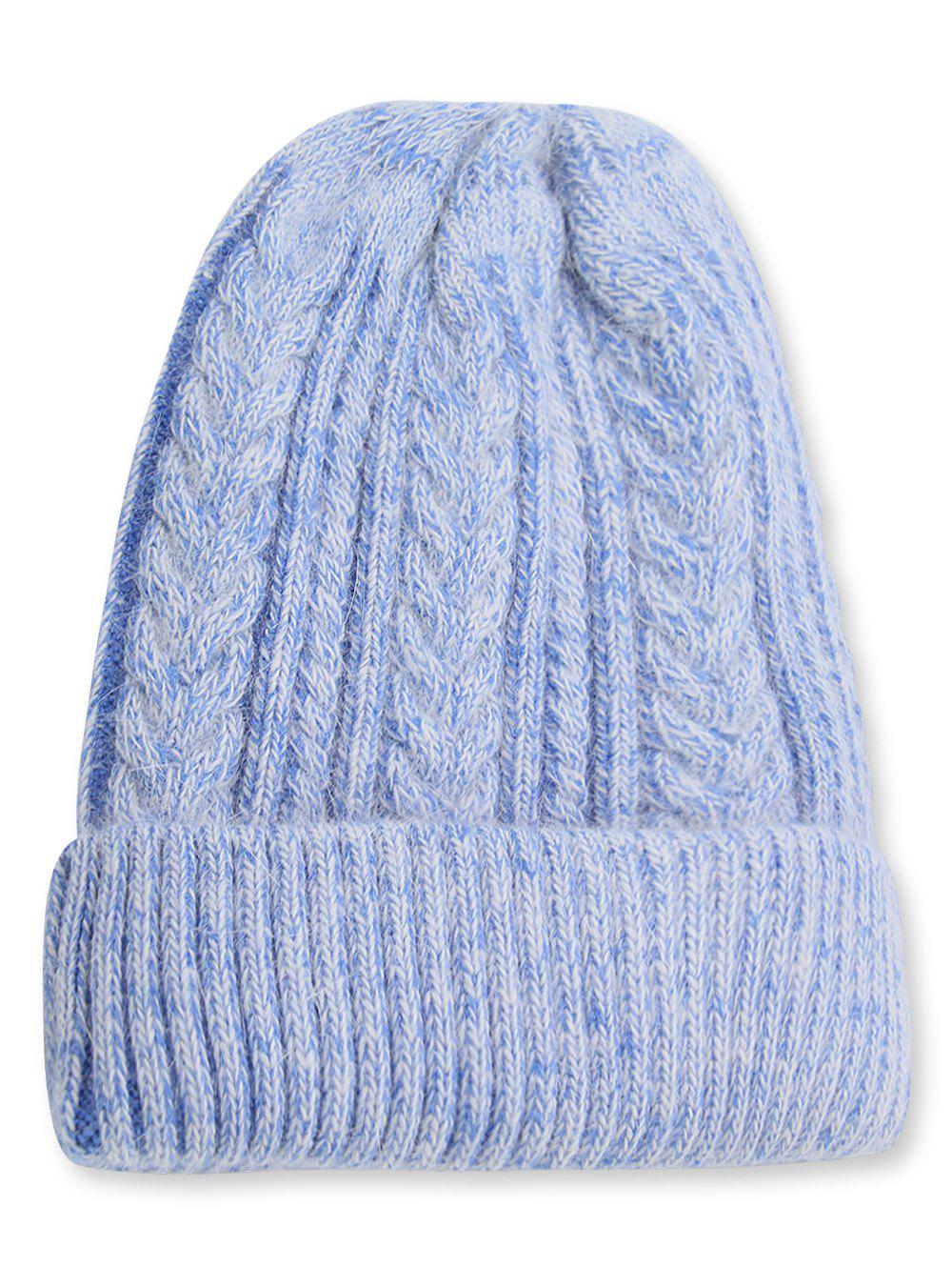 Discount Winter Fuzzy Flanging Knitted Beanie