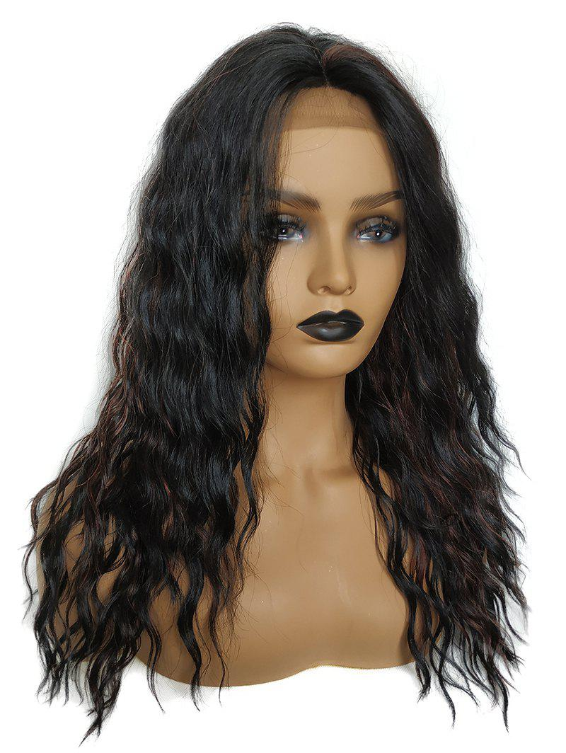 Store Medium Center Parting Colormix Wavy Party Synthetic Lace Front Wig