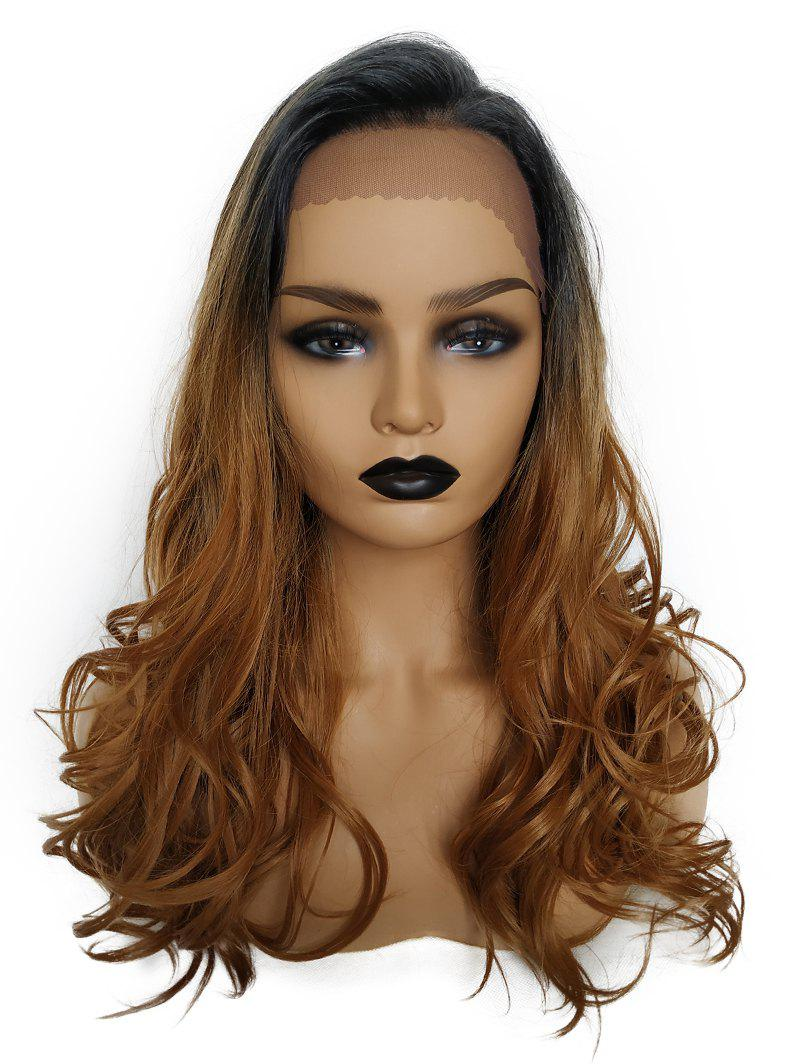 Hot Synthetic Long Side Bang Colormix Wavy Lace Front Wig