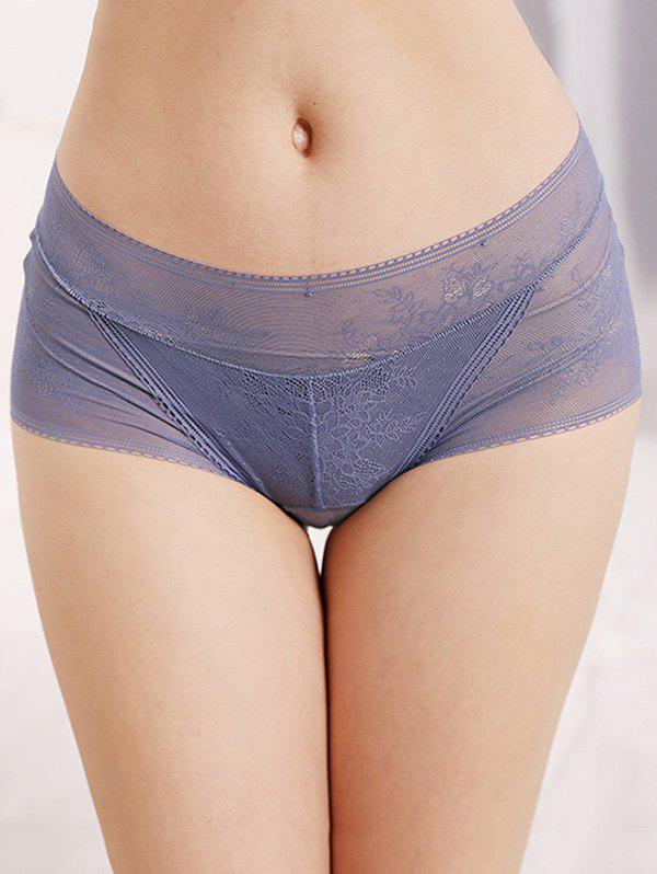 Online Mid Rise See Through Lace Briefs