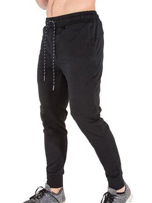 Latest Solid Color Casual Drawstring Jogger Pants
