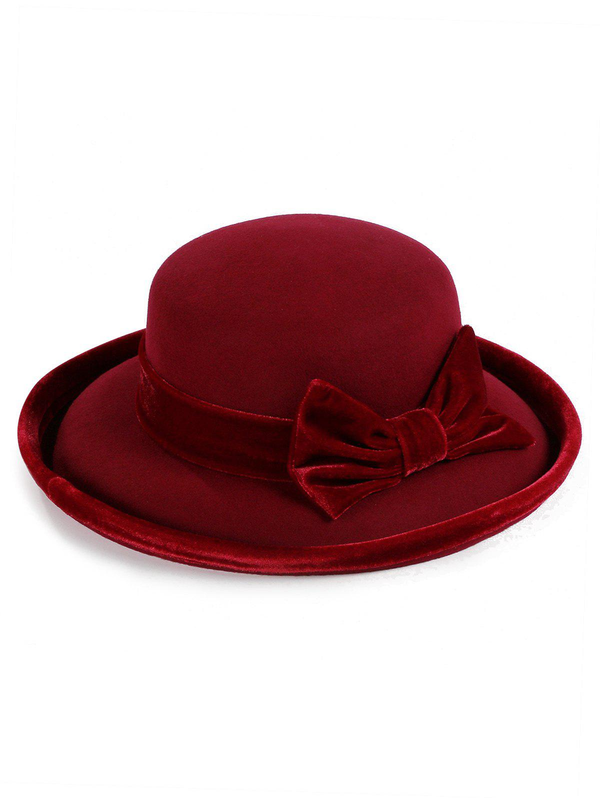 Latest Bowknot Sided Elegant Fedora