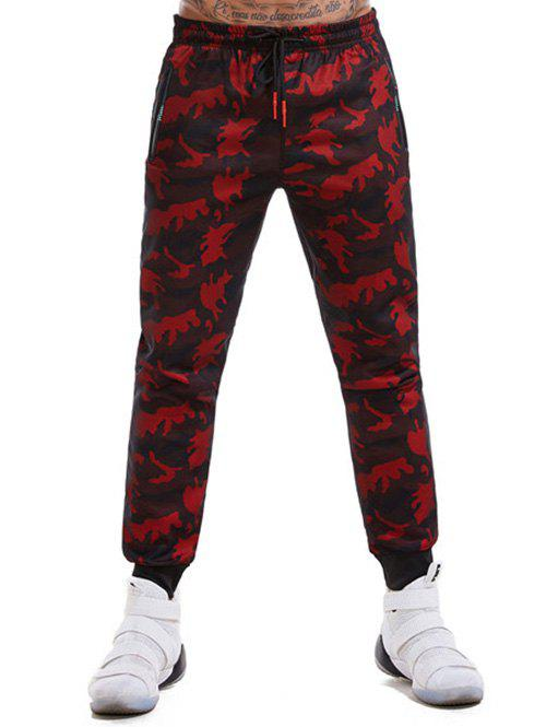 Trendy Mesh Camouflage Jogger Pants