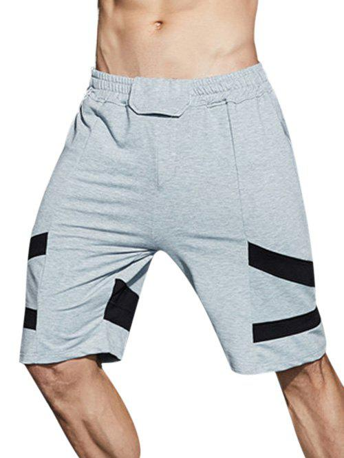Online Knee-length Panel Casual Shorts