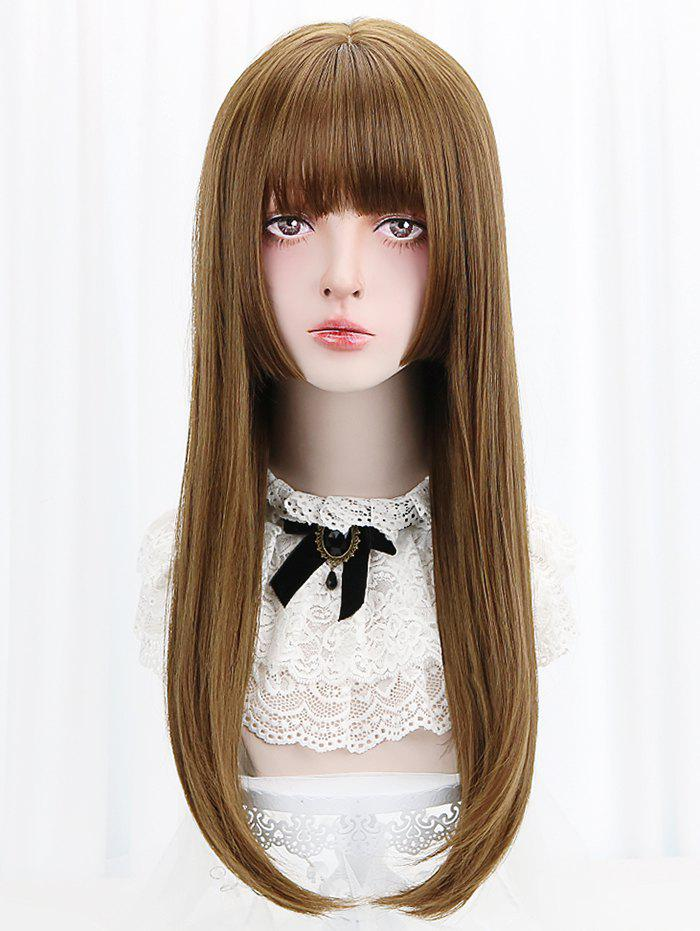 Discount Long Full Bang Straight Lolita Synthetic Wig
