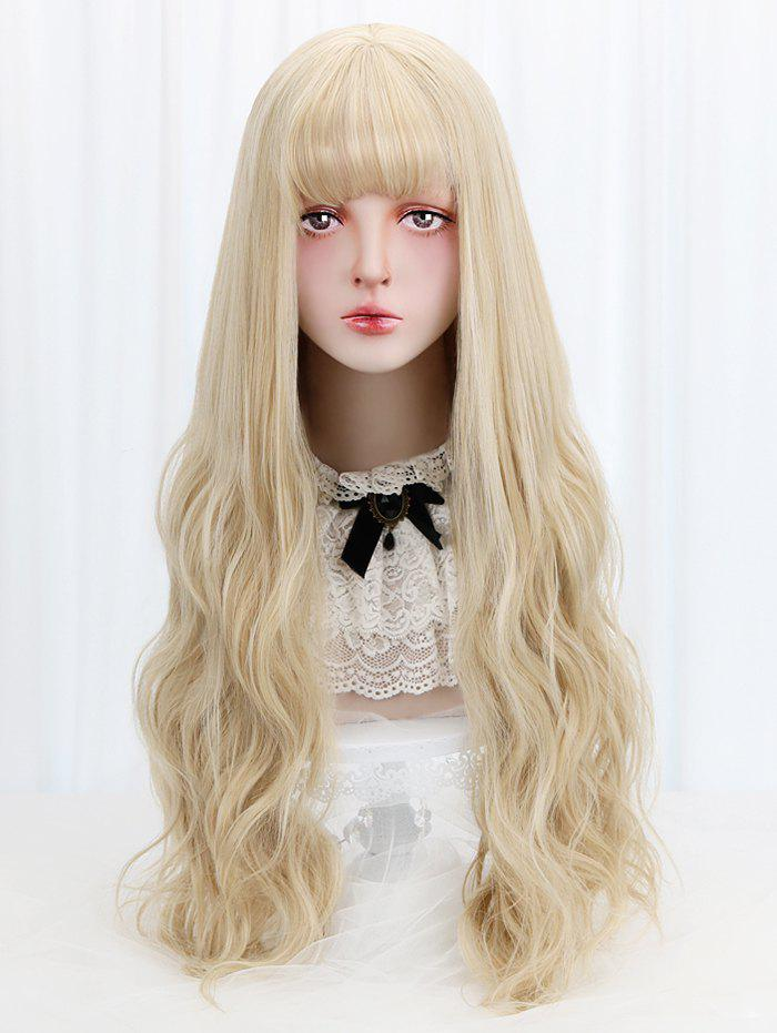 Trendy Full Bang Long Wavy Cosplay Lolita Synthetic Wig