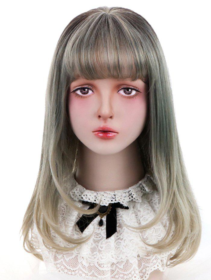 Sale Synthetic Long See-through Bang Straight Colormix Lolita Wig
