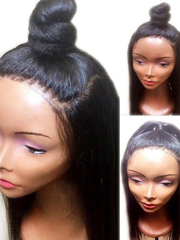 Best Long Free Part Yaki Straight Synthetic Lace Front Wig