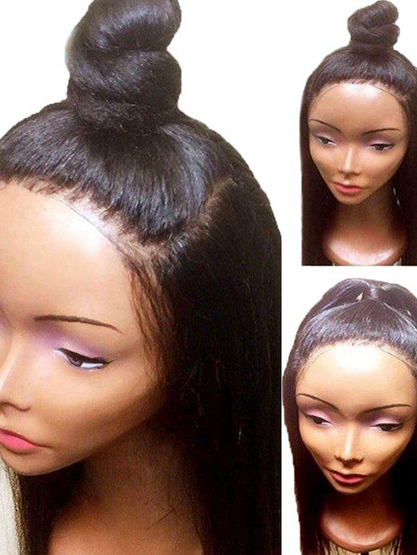 Fashion Long Free Part Yaki Straight Synthetic Lace Front Wig