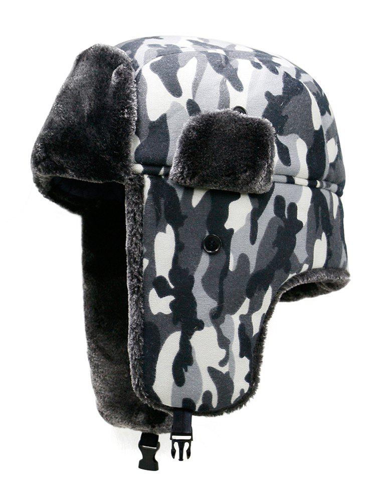 Shops Outdoor Camouflage Print Windproof Trapper Hat