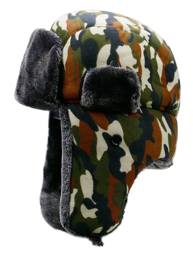 Sale Outdoor Camouflage Print Windproof Trapper Hat