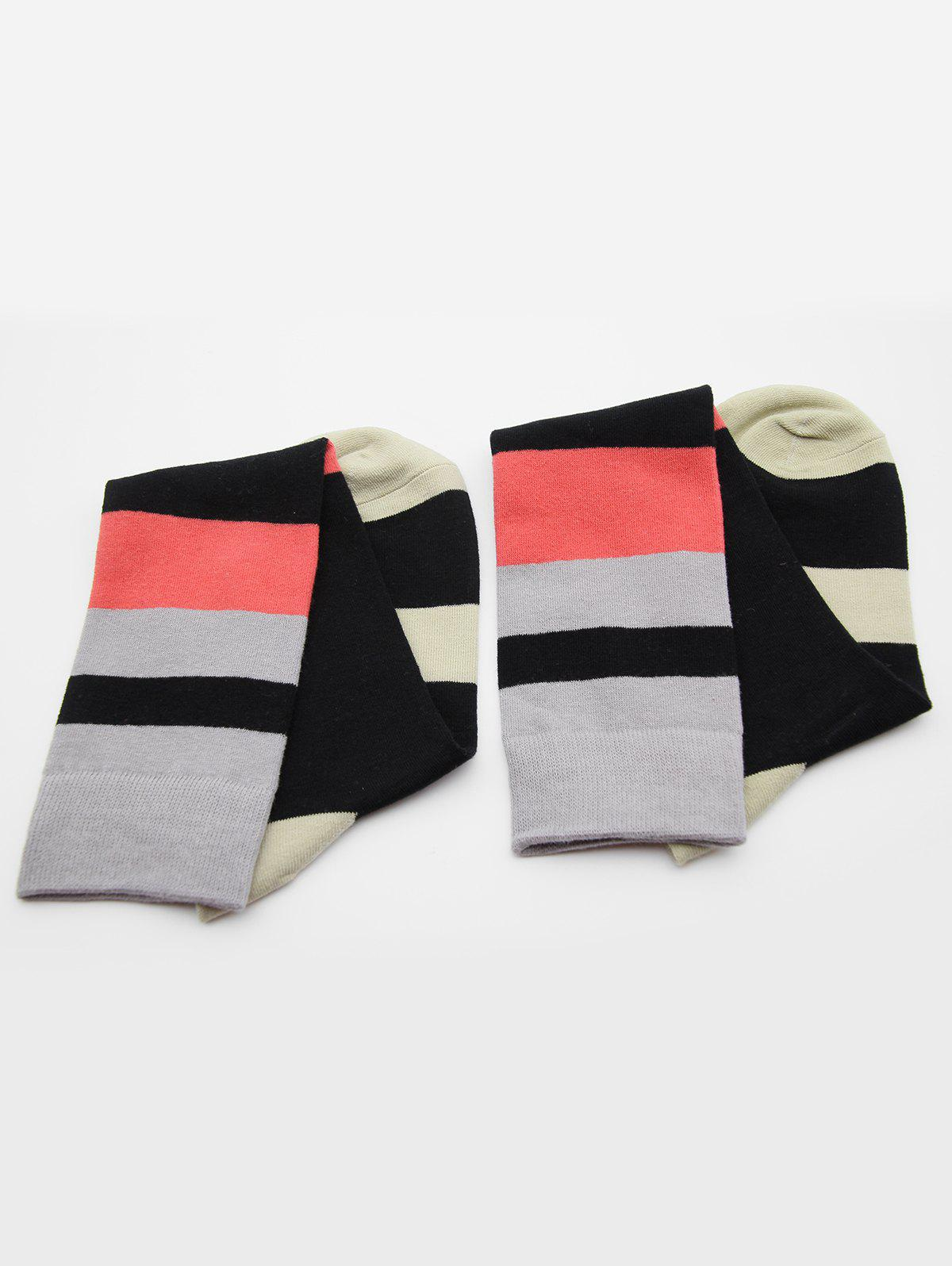 Chic Vintage Color Block Medium Socks