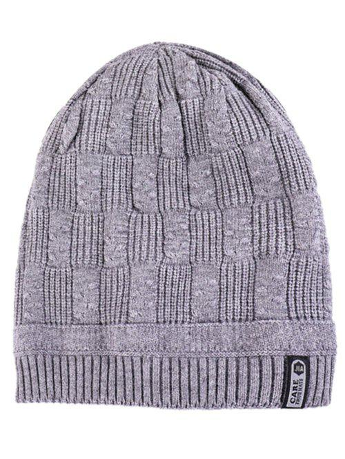 Hot Letter Label Knitted Winter Beanie