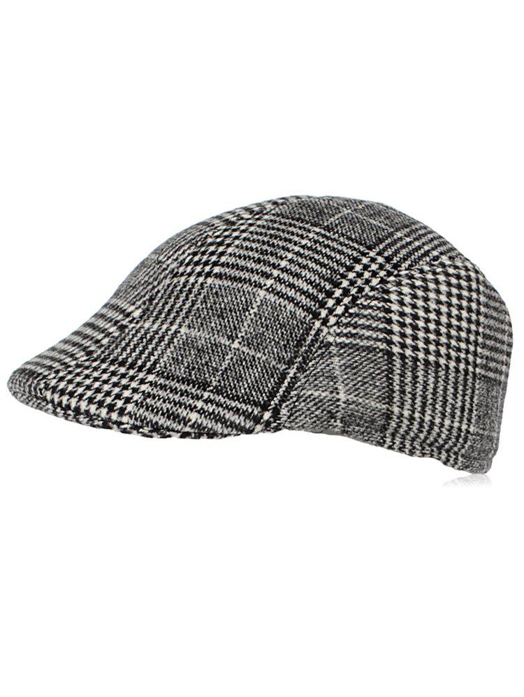 Best Casual Plaid Duckbill Hat