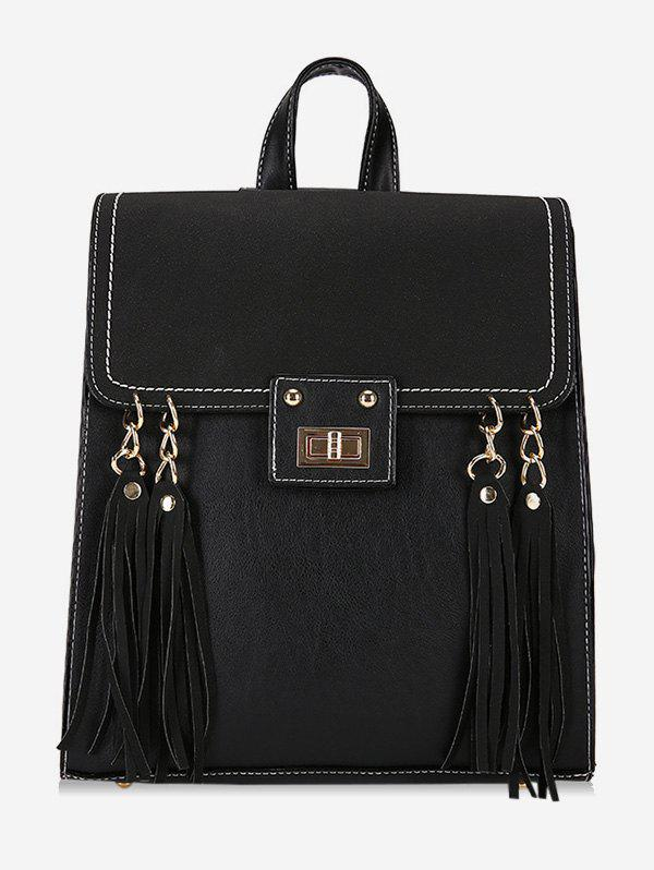 Outfits PU Leather Fringe School Backpack