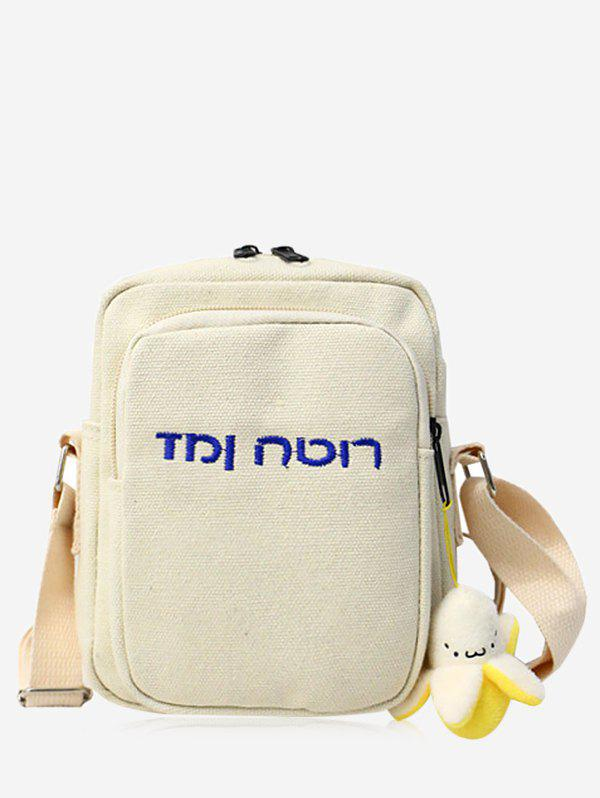 Discount Embroidery Letter Mini Crossbody Bag