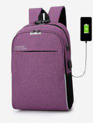 USB Charging High Capacity Waterproof Backpack -