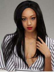 Brazilian Human Hair Side Parting Straight Lace Front Wig -