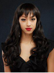 Full Bang Body Wave Brazilian Human Hair Lace Front Wig -