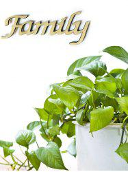 Family Wooden Letters Wall Sign -