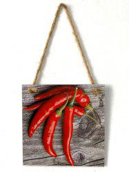 Peppers Pattern Wooden Hanging Sign -