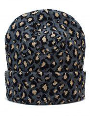 Outdoor Leopard Print Flanging Beanie -