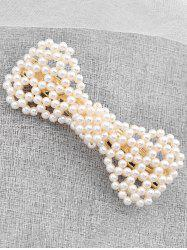 Vintage Faux Pearl Bowknot Hairpin -