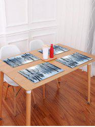 1PC Snow Christmas Printed Placemat -