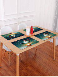 1PC Christmas Snowman Printed Placemat -
