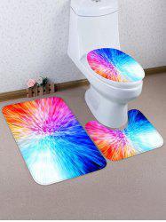 Unique Pattern 3 Pcs Bathroom Toilet Mat -