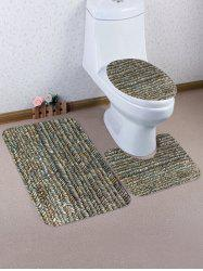 Stone Road Printed 3 Pcs Bathroom Toilet Mat -