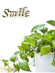 Smile Wooden Letters Sign -