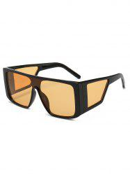 Integrated Lens Square Frame PC Sunglasses -