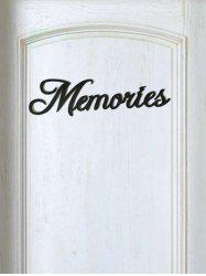Memories Wooden Letters Sign -