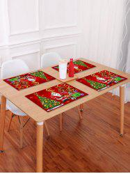 1PC Father Christmas Tree Gift Printed Placemat -