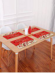 1PC Merry Christmas Printed Placemat -