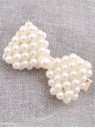 Faux Pearl Bowknot Shape Hairpin -