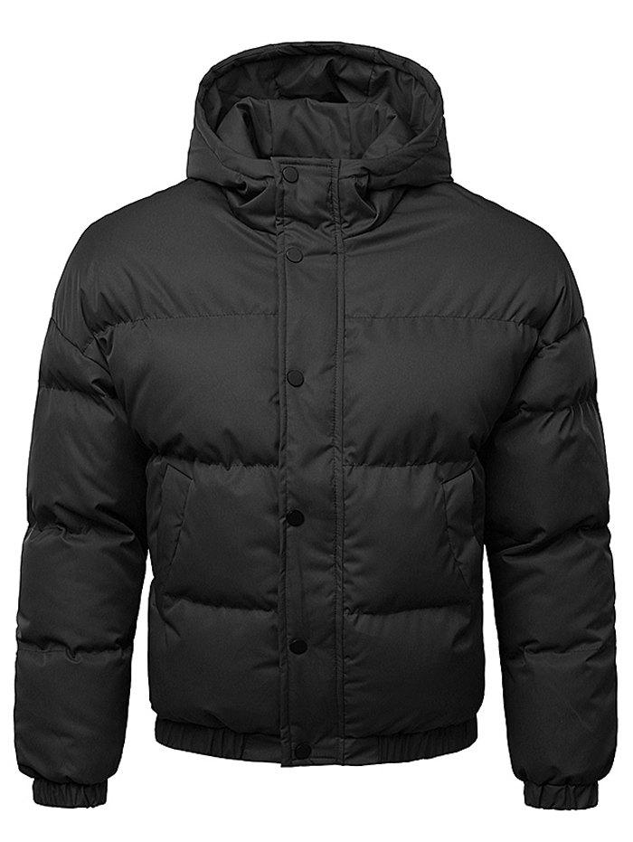 Buy Button Up Warmth Hooded Down Jacket