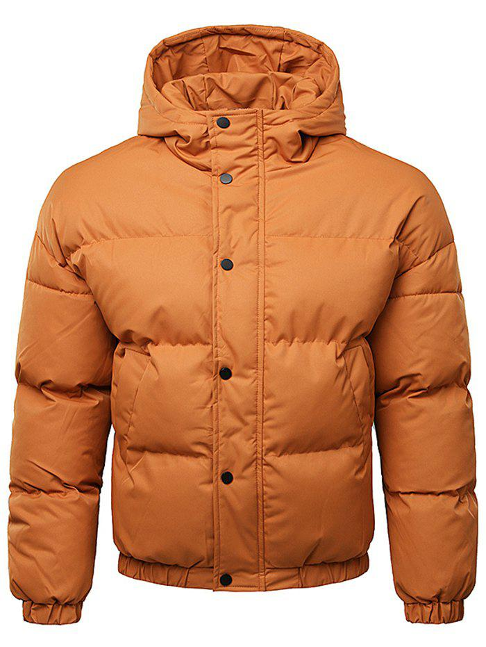 Shop Button Up Warmth Hooded Down Jacket