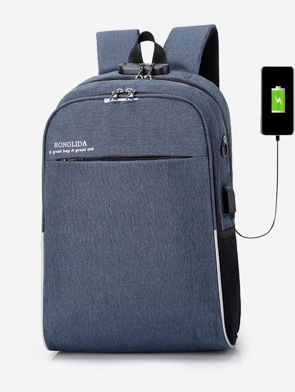 Outfit USB Charging High Capacity Waterproof Backpack