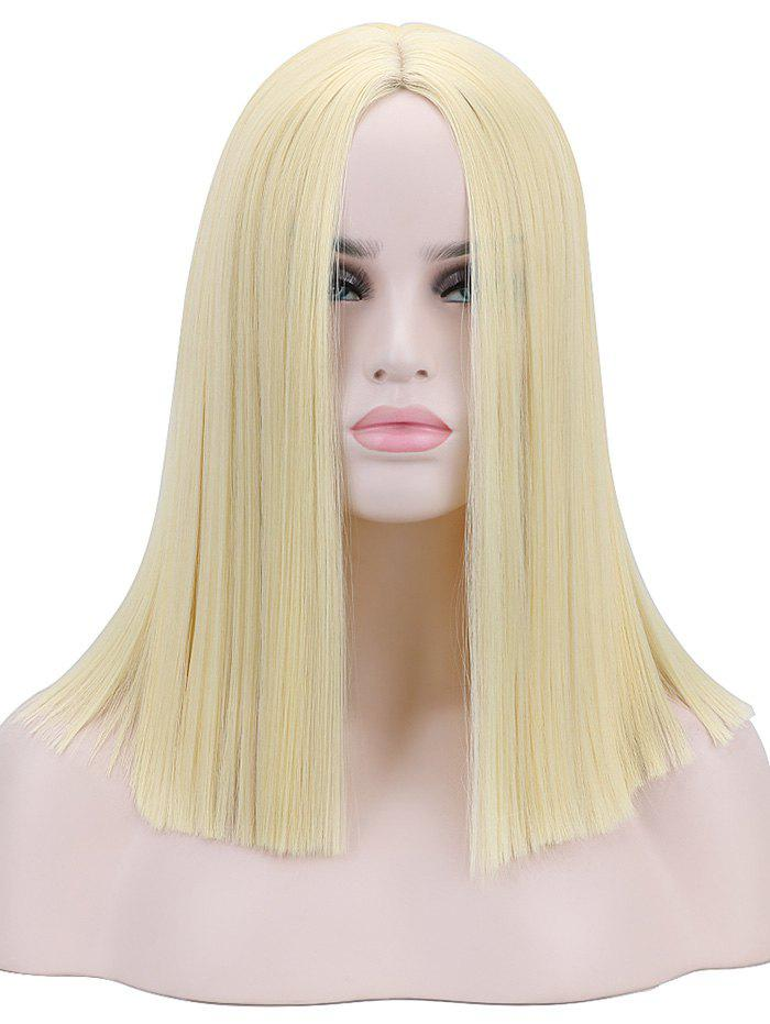 New Medium Center Parting Blunt Straight Party Synthetic Wig